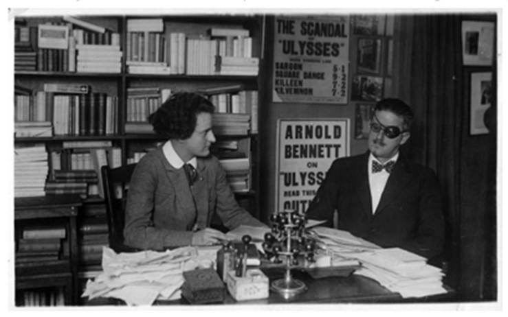 Joyce and Sylvia Beach